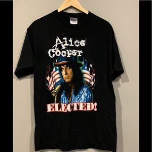 Rare ALICE COOPER Election T-Shirt Kerry Bush 2004